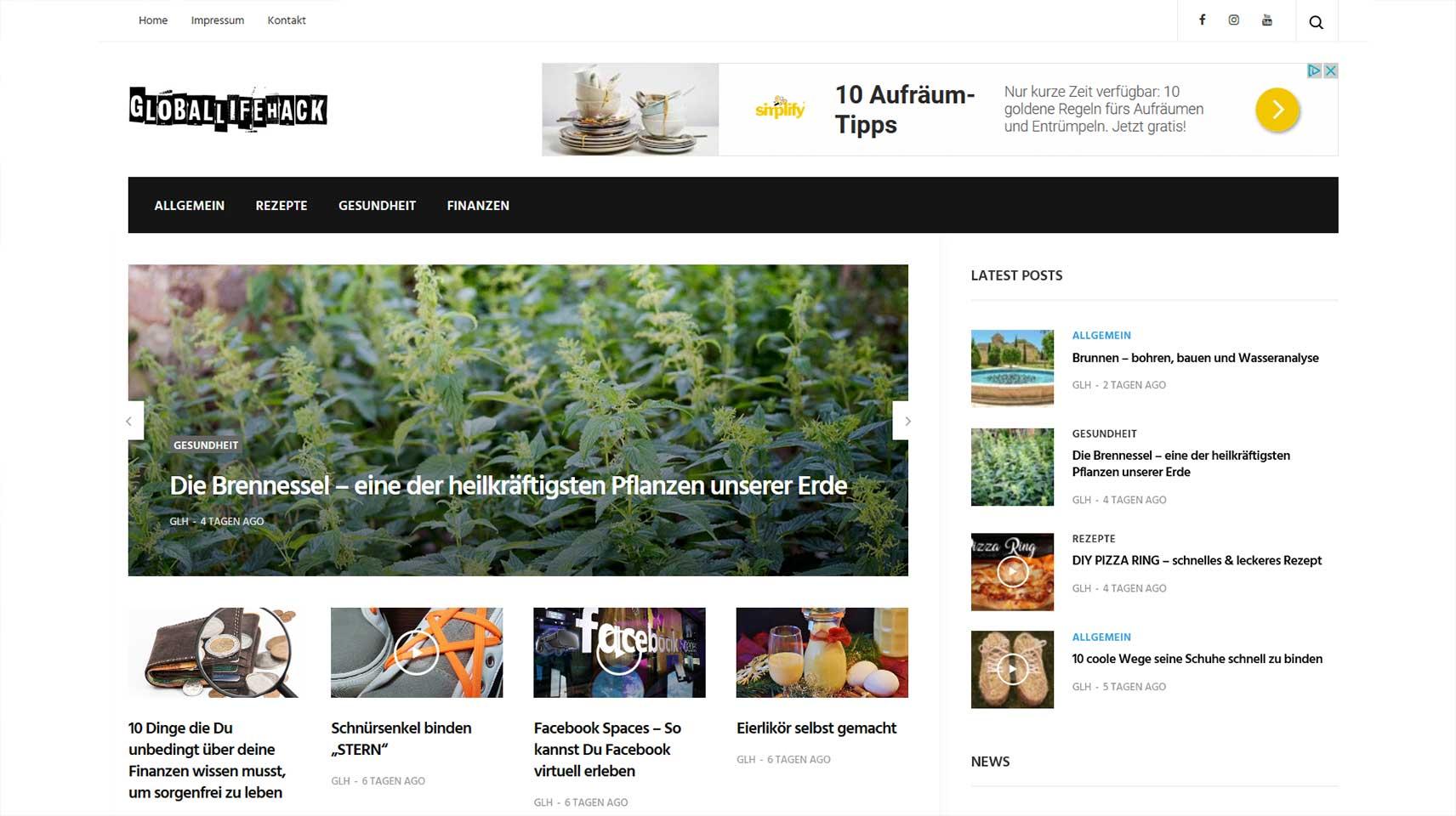 GlobalLifeHack-webseite